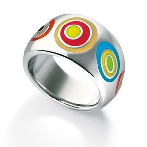 Swatch Ring Bijoux multi color swirls ring